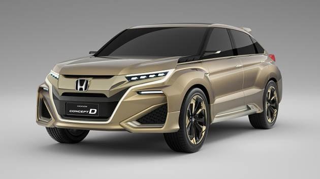 Honda也来土豪金!Concept D上海车展亮相