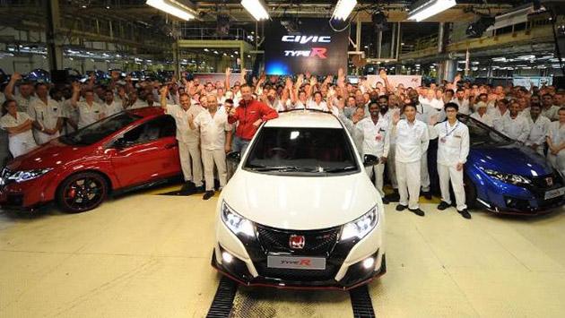 Civic Type R正式量产下线!将全部由英国生产!