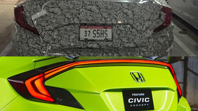 Honda Civic 10代在美国德克萨斯州被捕获!