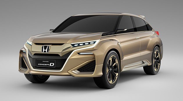 Honda土豪金Concept D谍照被捕获!明年面世!