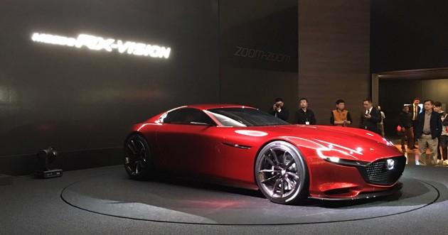 欢庆50周年!Mazda 新转子传人RX-Vision 2017年现身!