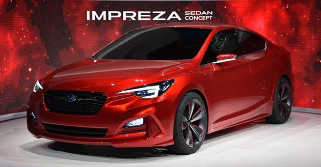 全新Subaru impreza Sedan Concept亮相洛杉矶车展!