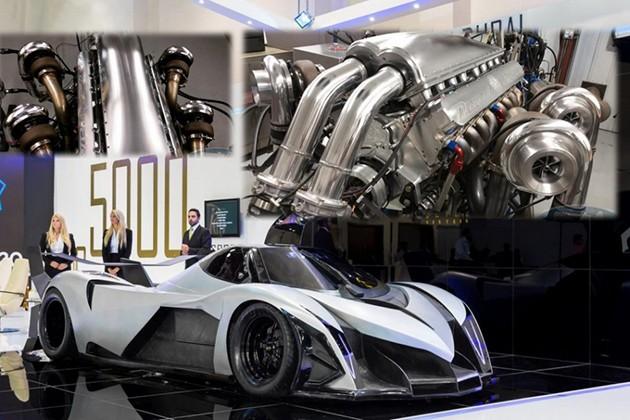 """杜拜""""霸级""""跑车Devel Sixteen终于现身!引擎排气量12,300cc"""