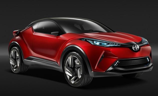 首款小型跨界SUV!Toyota C-HR量产版底特律车展亮相!