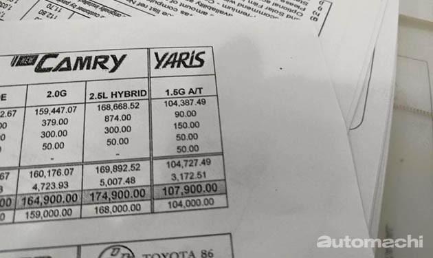 马来西亚版Toyota Yaris价格曝光!一个等级售价RM107k!