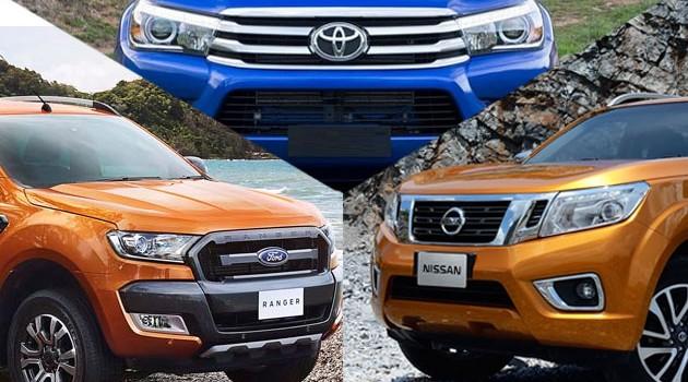 三大皮卡对战!Hilux 2.8+Ranger 3.2+Navara 2.5 VL谁更为优秀?