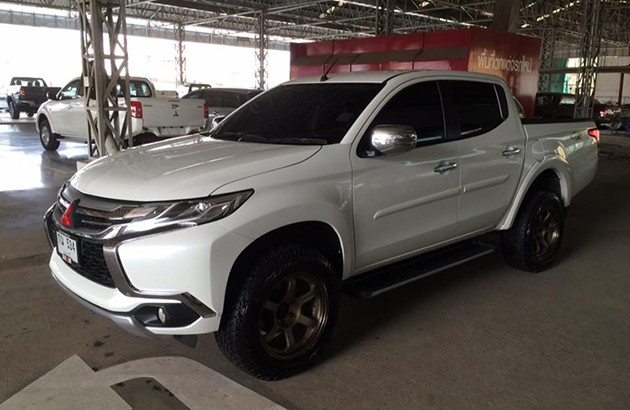 Mitsubishi Triton小改款变身成Pajero Sport前脸??