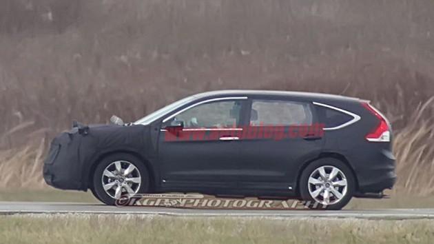 车身尺寸变长!全新一代Honda CR-V上路测试中!
