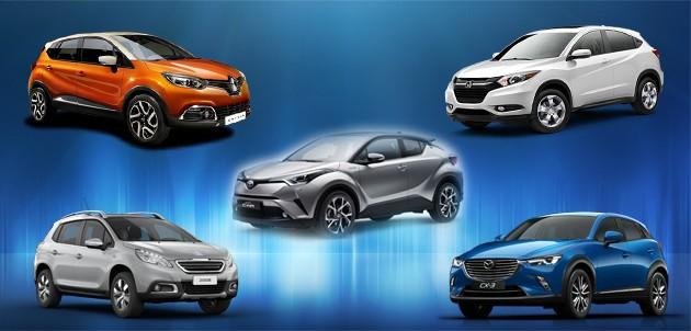 车款对比:Toyota C-HR跟其他四个对手相比谁胜谁负?