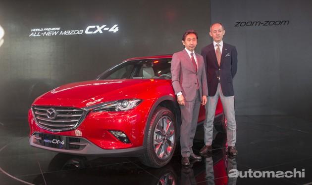 """魂动设计将会再进化!未来Mazda车款将会采取新世代魂动风格! 在北京车展上Mazda全球首发了CX-4这一款独特的""""运动型跑旅"""",原厂将CX-4的车身高度降低了不少营造出很特别的风格,但是眼尖的读者应该会发现跟CX-5和Mazda6相比,CX-4的魂动设计其实已经有很大的不同了。在北京车展上Automachi特别访问了CX-4的设计师小泉严先生和CX-4项目经理冈野直树先生,小泉严先生表示目前的魂动设计已经进化到了最终章,在下一代的Mazda车款上将会采用全新的Kodo风格,所未来Mazda车款的设计更为值得期待! 他的美只是推出时""""哇""""一声.. 一个月后觉得她很难看……他的美只是推出时""""哇""""一声.. 一个月后觉得她很难看……他的美只是推出时""""哇""""一声.. 一个月后觉得她很难看…… 小泉严先生表示,Kodo魂动设计是融合了生命的元素,因此采用Kodo设计的Mazda车款看起来都会非常的有生命力,Mazda也会一直在Kodo设计上做出修饰,我们可以很明显的看到第一代采用Kodo设计的CX-5还有Mazda6和最新的CX-3以及CX-4有着明显的不同,对此小泉严先生表示CX-4的设计是目前魂动设计的最终章,目前也是最完美的魂动设计,魂动设计会有不同的风格主题,而目前的主题最后一个作品就是CX-4,而下一代的主题暂时还没有定案,当Ivan问及采用下一代Kodo设计的车款会不会是即将在年尾现身的全新一代CX-5时小泉先生并没有正面的回应,他仅表示Kodo魂动设计并不会终结。 在车身的架构方面,CX-4的项目经理冈野直树先生表示虽然CX-4和CX-5的轴距是一样的,但是它们的平台架构其实不太一样,CX-4的平台仅有前半部是和CX-5一样,但是Mazda还是重新设计了选调的结构,让CX-4拥有不俗的操控感,比较起其他的统计SUV车型,我们可以看到CX-4虽然还保留着SUV的轮廓,但是其实它的车高比起其他的SUV更为低矮,但是内部空间并没有收到影响,这最主要的原因就是Mazda的工程师重新设计了CX-4的悬吊,让CX-4在压低车身高度至于有不牺牲空间的表现,同时对于操控也有不小的帮助。 在市场规划这一环,冈野先生说CX-4目前仅在中国市场有所规划,因为CX-4是为了填补CX-3没有在中国市场上市的空缺,至于海外市场暂时没有任何计划,会不会投放右驾市场也还有待确定。而在CX-4的引擎动力上,目前仅有2.0L的Skyactiv-G的2.5的Skyactiv-G引擎,Mazda当家的柴油引擎会不会出现呢?答案是肯定的,目前带Skyactiv-D引擎等等CX-4已经在测试中,相信不久的将来我们就能看得到。 从这次专访中,我们不难看到Mazda其实规模不大但是很有雄心,也就是这份雄心才会让全球车坛龙头Toyota与之合作。这次的访谈中最让我们惊喜的的就是下一代Kodo魂动设计,究竟新的魂动设计还会为我们带来什么惊喜呢?现在就等着全新一代的Mazda车款现身了。"""