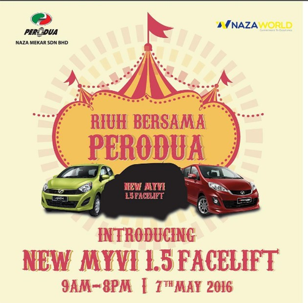 Perodua Myvi 1.5L即将迎来第二次小改款!
