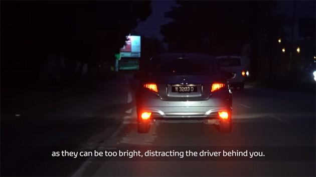为了其他的驾驶人士着想,请不要在不对的时候开启你的后雾灯!