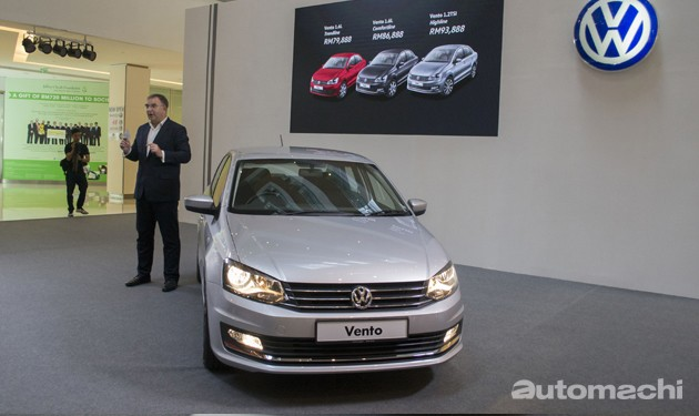 VW Vento TSI正式发表!价格从RM 79,888起跳!