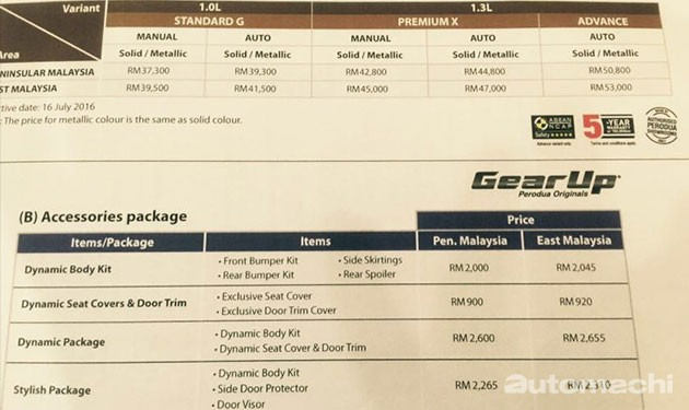 Perodua Bezza正式开放预订,价格从RM37,300起!