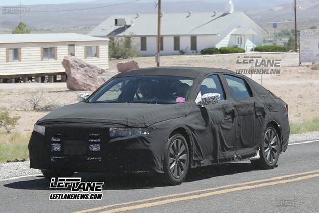 采用Civic平台!下一代Honda Accord测试照现身!