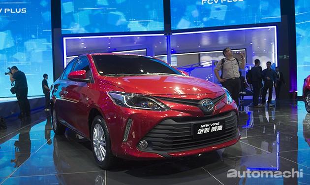 同步更新CVT变速箱!Toyota Vios小改款9月中国上市!