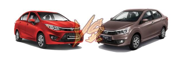不同等级的比较!Perodua Bezza VS Proton Persona!