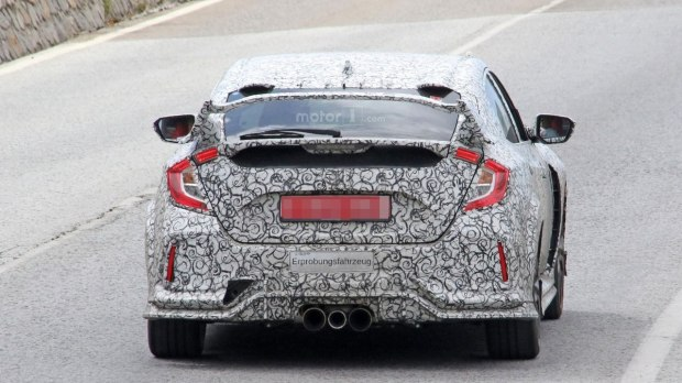 FC2R再现身!全新Honda Civic Type R前脸更凶悍!