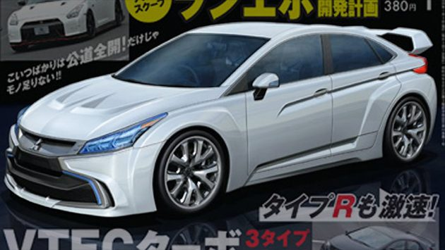 Mitsubishi Evo XI假想图