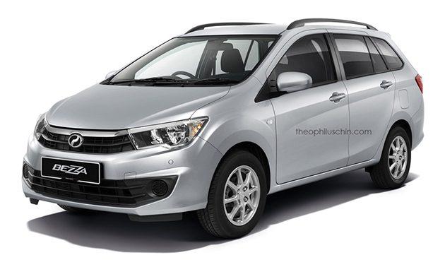 Theophilus Chin 再出手, Perodua Bezza Wagon 假想图登场!