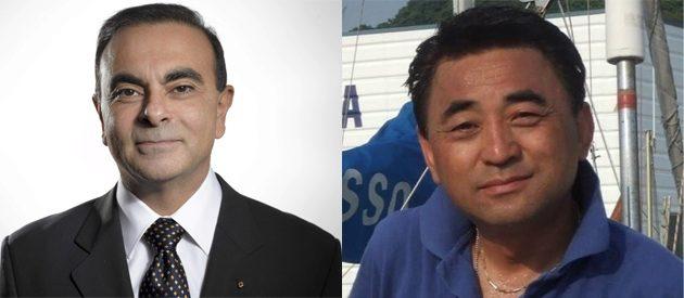 左为Carlos Ghosn,右为小川雅澄