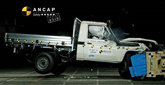 老车 Toyota Land Cruiser 70 在ANCAP获得五星佳绩!
