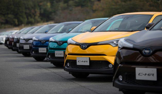 Toyota对 C-HR 的全球销量目标为17万!