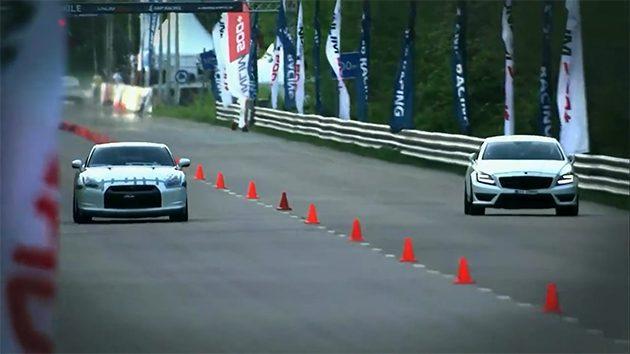 Nissan GTR35 大胜Mercedes CLS63 AMG!
