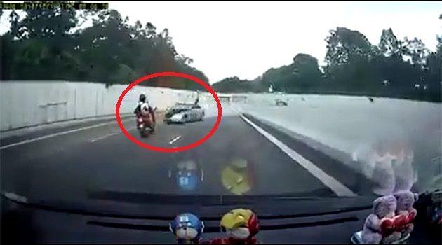 wrong-way driving !新加坡 恐怖车祸 !(内附影片)
