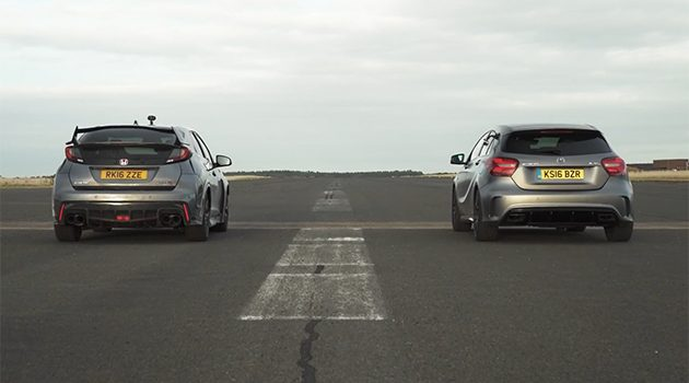 德日对决! Mercedes-AMG A45 VS Honda Civic Type R!