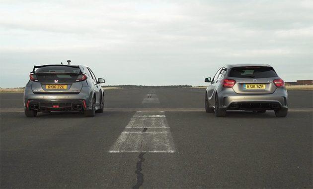 德日对决! Mercedes-AMG A45 VS Honda Civic Type R!