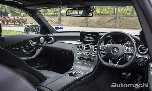 Mercedes-Benz C350e 绿色豪华轿跑!