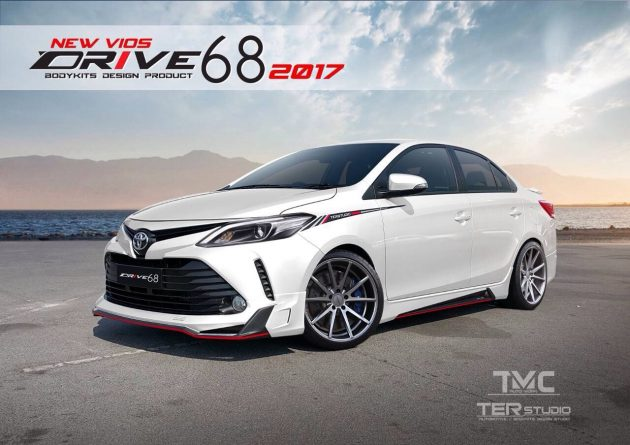 Toyota Vios 2017 Drive 68 bodykit大包围空力套件登场!