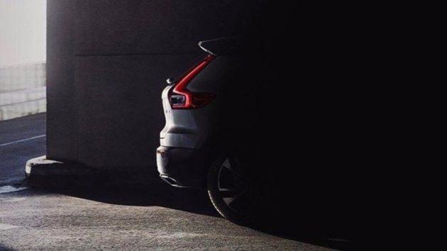 Volvo XC40 预览照意外提早泄露,有望9月亮相!