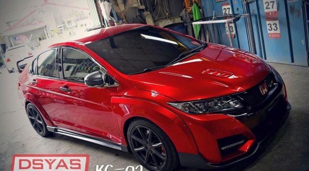 Honda City GM6 也来凑热闹,换装红顶K20A!