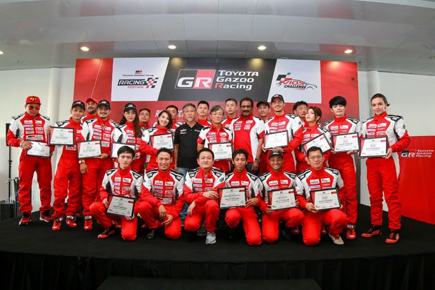 明星战队登场! Toyota办法证书给予 Vios 挑战赛车手!