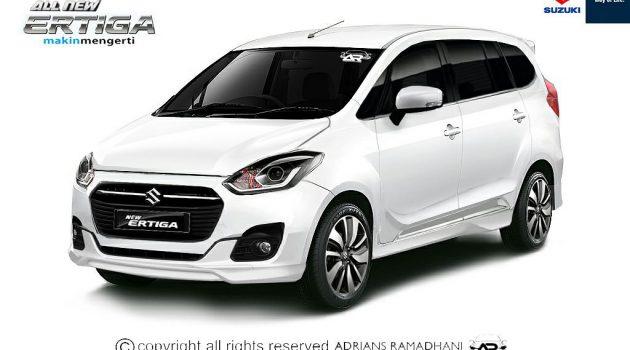 新一代 Suzuki Ertiga 预想图曝光,预计2018年上市!