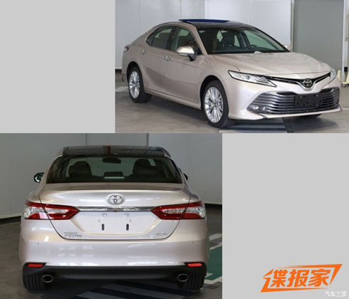 Toyota Camry XV70 亚洲版现身! 2.0 na+8at!