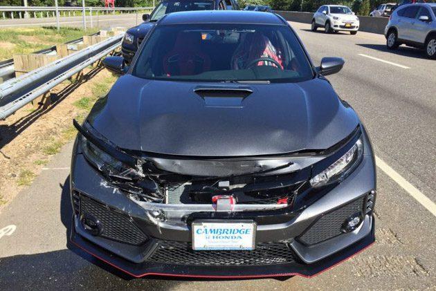 Honda City Type R 最悲惨的遭遇,刚领车就被追尾!