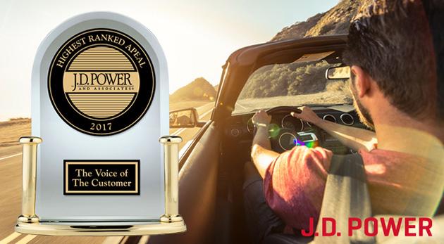 JD Power 2017 美国新车魅力指数榜单出炉,处处有惊喜!