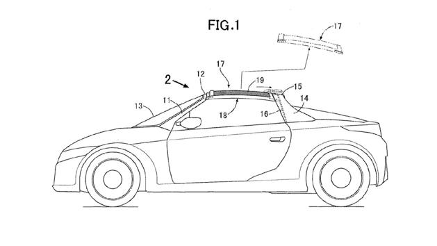 Honda 申请 Targa 式车顶专利,装在全新 S2000 吗?