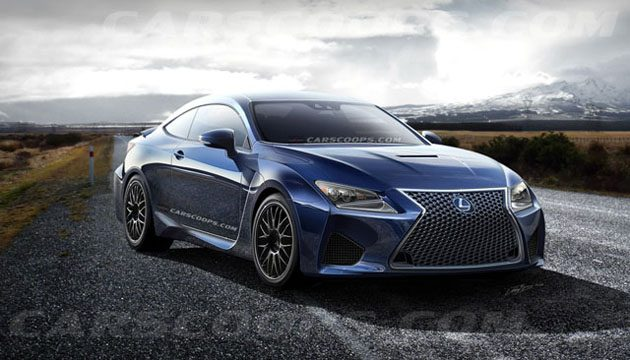 Lexus RC-F 4.0 V8 Twin Turbo 现身!C63和M4怎么办?