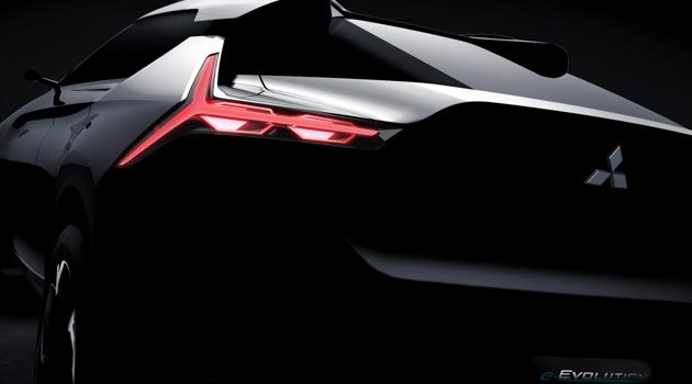 Mitsubishi e-Evolution 东京车展前夕小露车尾,帅不?