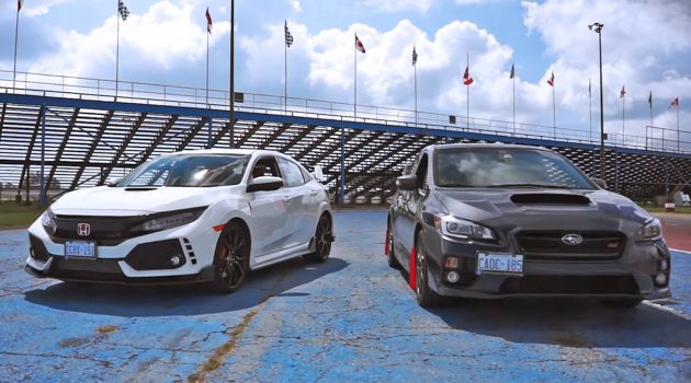 当 Honda Civic Type R 在赛道对上 Subaru WRX STI !