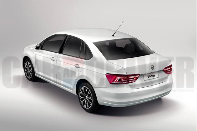 Volkswagen Virtus 发布预览图,2018年1月推出!