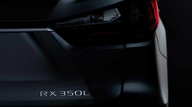 Lexus RX350L 预告释出,洛杉矶车展见!