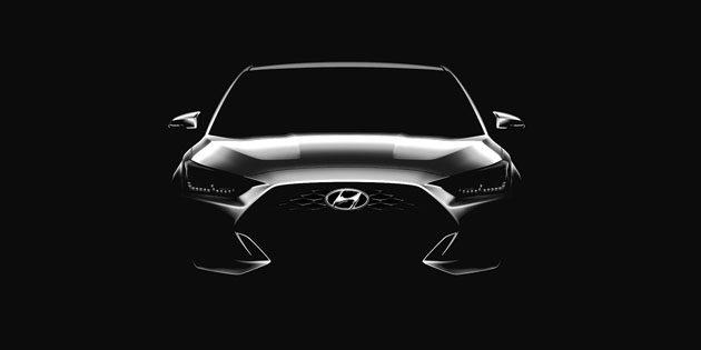 底特律车展: Hyundai Veloster 2018 预告释出!