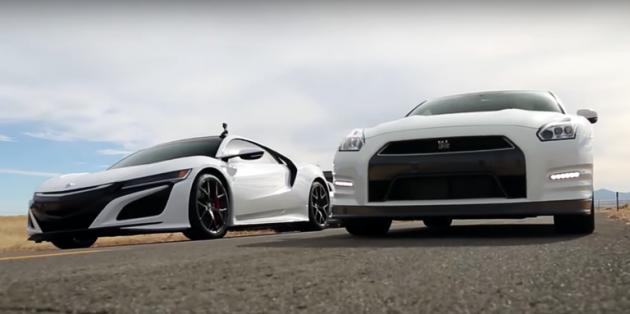 当东瀛法拉利 NSX VS Nissan GTR ,谁胜谁负?