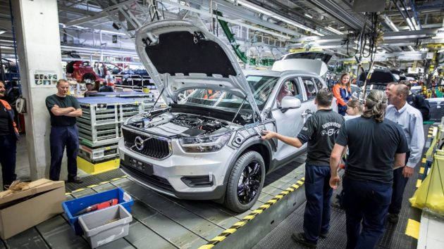 Pre-production of the new Volvo XC40 in the manufacturing plant in Ghent