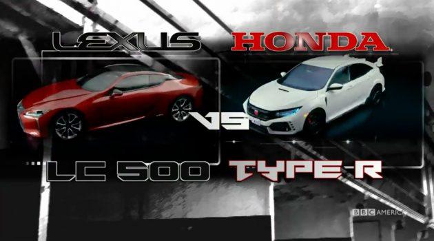 红白武士的对决, Lexus LC500 VS Honda Civic FK8 !